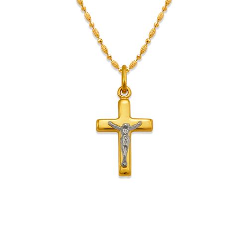 161-601C High Polished Hollow Cross Pendant
