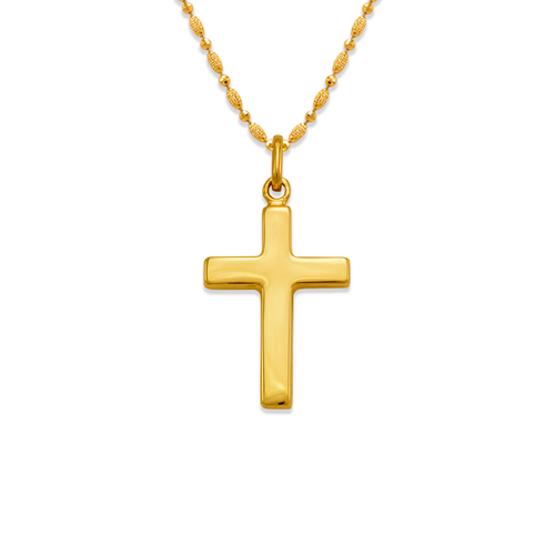 161-602 High Polished Hollow Cross Pendant