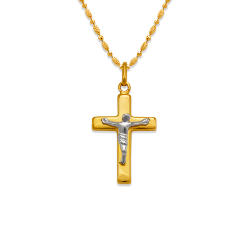 161-602C High Polished Hollow Cross Pendant