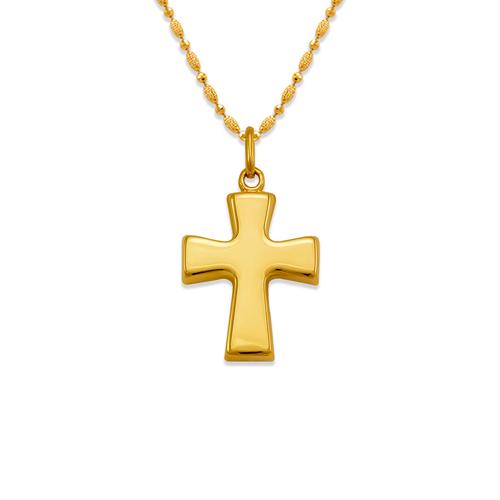 161-603 High Polished Hollow Cross Pendant