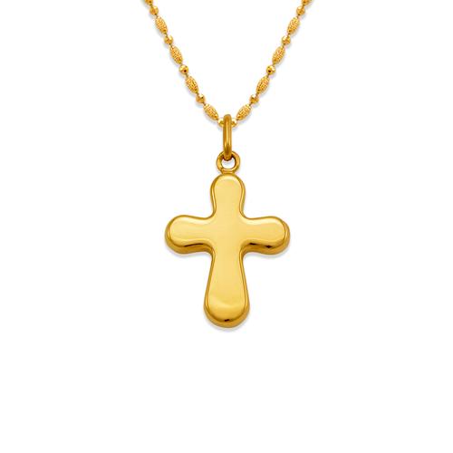 161-604 High Polished Hollow Cross Pendant