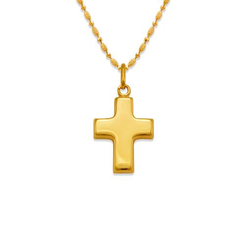 161-605 High Polished Hollow Cross Pendant