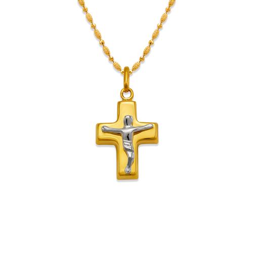 161-605C High Polished Hollow Cross Pendant