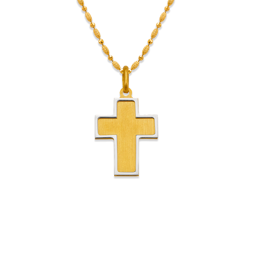 161-606 Satin Cross Pendant