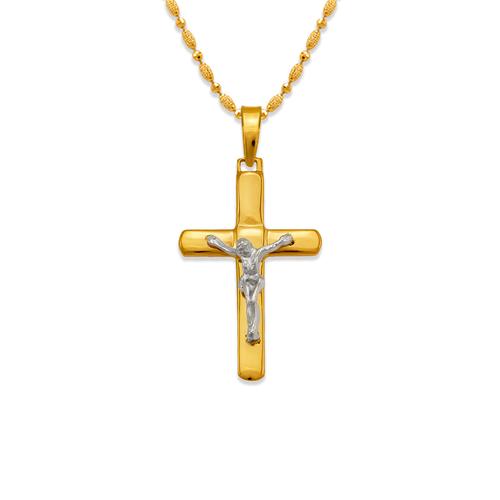 161-611C High Polished Cross Pendant