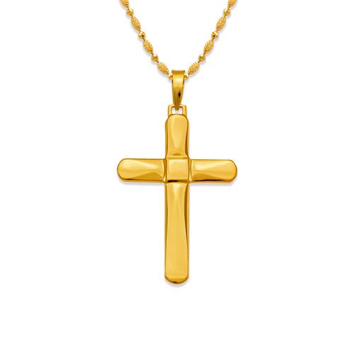 161-612 High Polished Cross Pendant