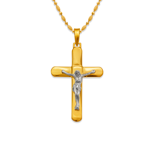161-612C High Polished Cross Pendant