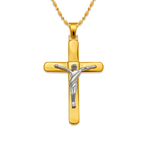 161-613C High Polished Cross Pendant