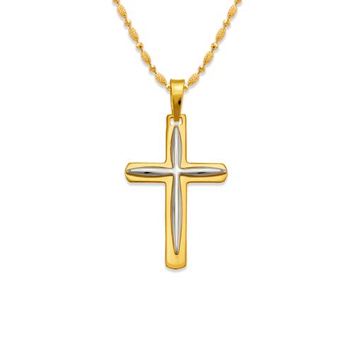 161-617 High Polished Cross Pendant