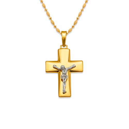 161-621C High Polished Cross Pendant