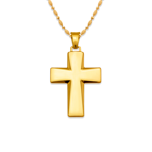 161-622 High Polished Cross Pendant