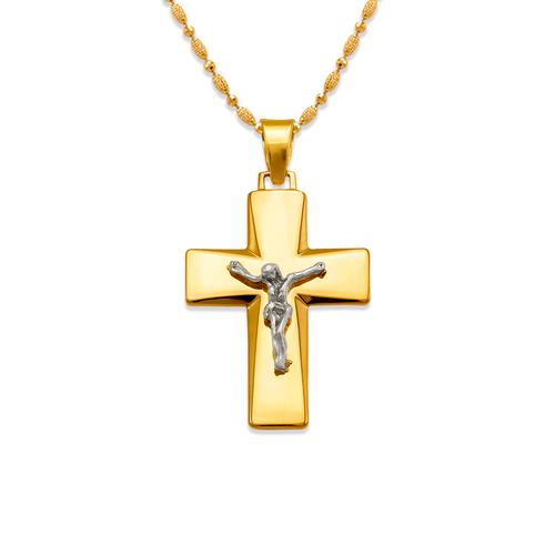 161-622C High Polished Cross Pendant