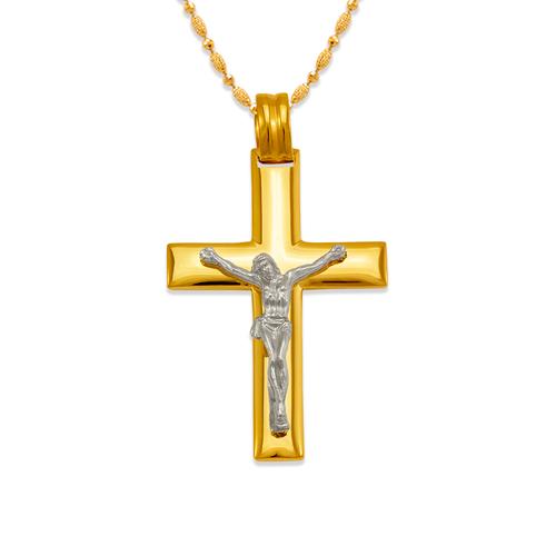 161-625C High Polished Cross Pendant