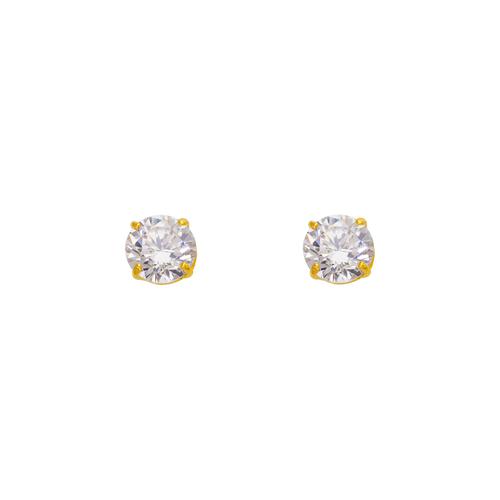543-102WH White Birthstone CZ Screwback Stud Earrings