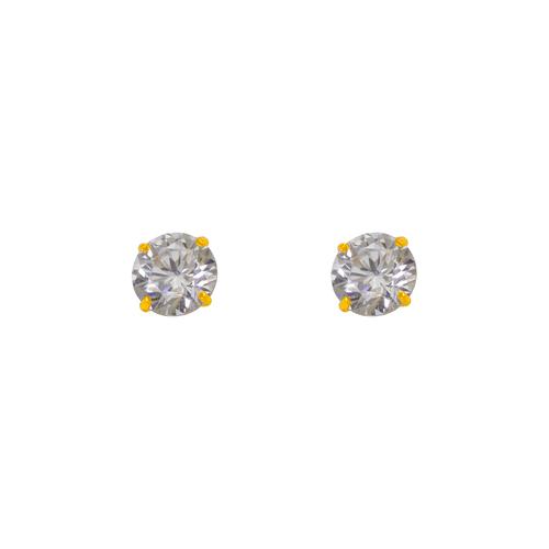 543-103WH White Birthstone CZ Screwback Stud Earrings