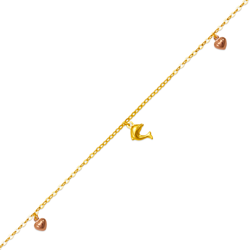 827-003T Dolphin Charm Anklet