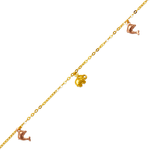 827-004T Dolphin Charm Anklet