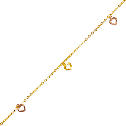 827-005T Heart Charm Anklet