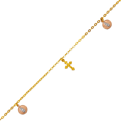 827-007T Guadalupe Charm Anklet