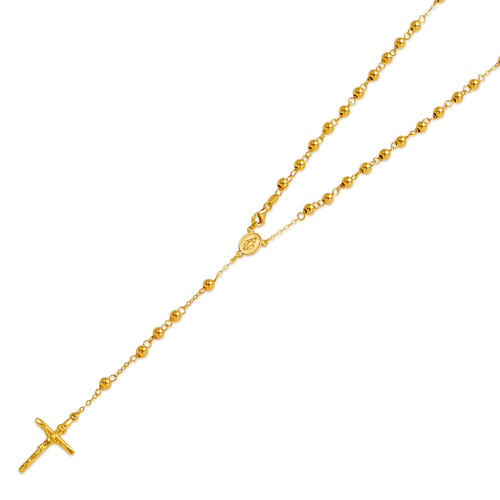 156-001-040 High Polished Hollow Rosary Chain