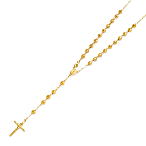 156-001-050 High Polished Hollow Rosary Chain