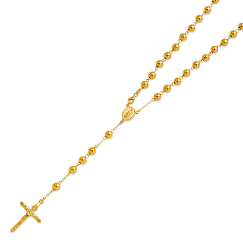 156-001-060 High Polished Hollow Rosary Chain