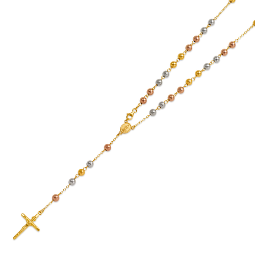 156-001T-050 High Polished Hollow Rosary Chain