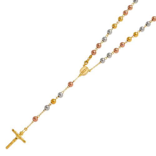 156-001T-060 High Polished Hollow Rosary Chain