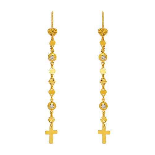 243-301 Dangling Threader CZ Earrings