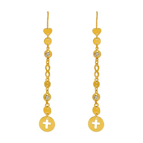 243-302 Dangling Threader CZ Earrings