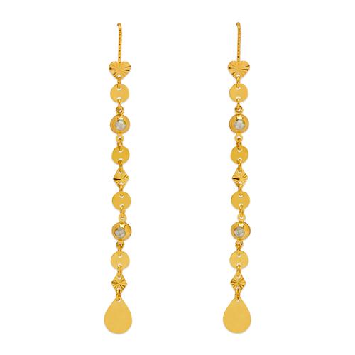 243-303 Dangling Threader CZ Earrings
