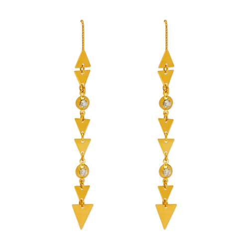 243-304 Dangling Threader CZ Earrings