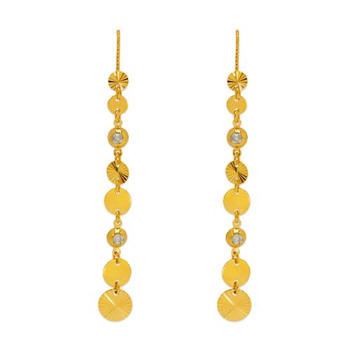 243-305 Dangling Threader CZ Earrings