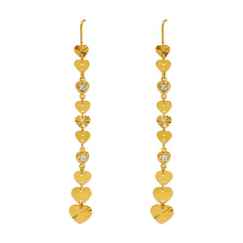 243-307 Dangling Threader CZ Earrings