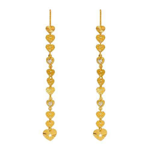 243-308 Dangling Threader CZ Earrings