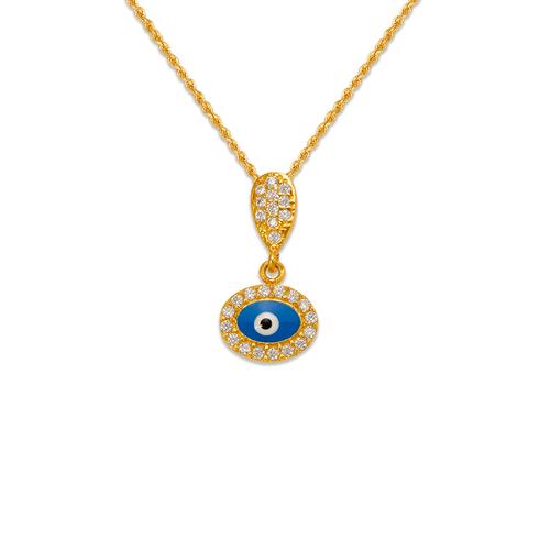 263-085 Fancy Evil Eye CZ Pendant