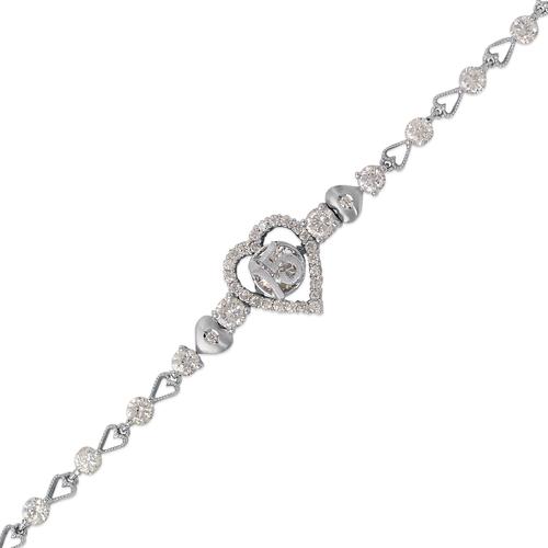 483-010W Ladies Fancy 15 Anos CZ Bracelet