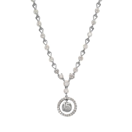 483-021W Fancy 15 Anos CZ Necklace