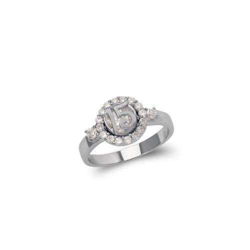 483-023W Ladies Fancy 15 Anos CZ Ring