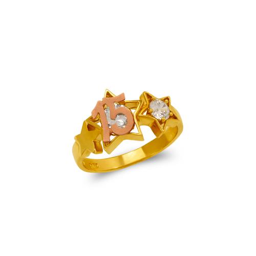 483-043 15 Anos Star CZ Ring