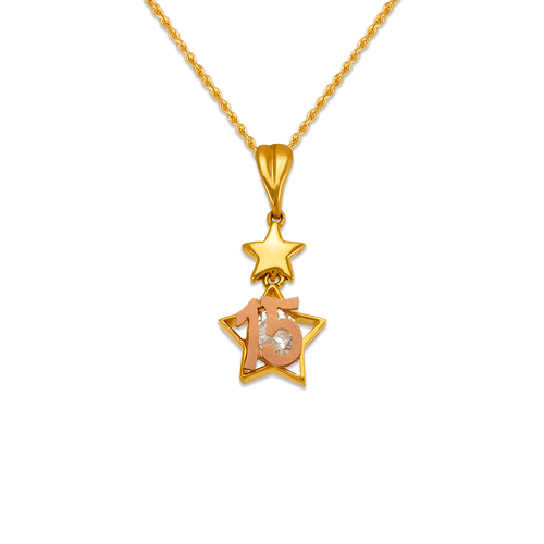483-045 15 Anos Star CZ Pendant