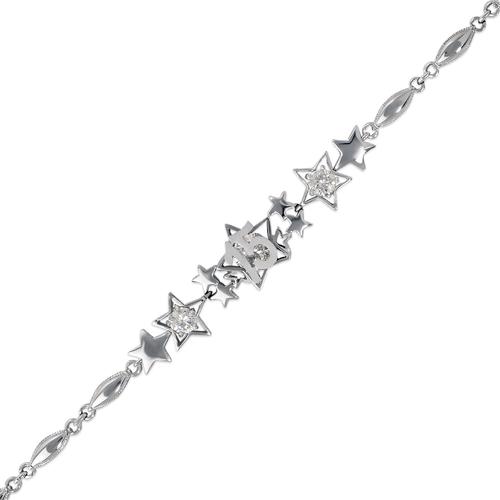 483-042W 15 Anos Star CZ Bracelet