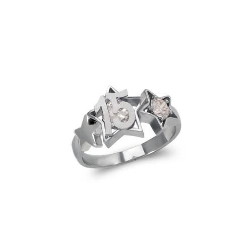 483-043W 15 Anos Star CZ Ring
