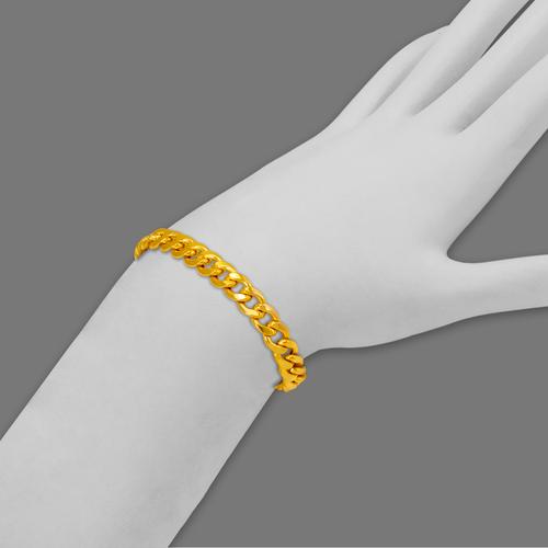 136-105-150BR Hollow Miami Curb Bracelet