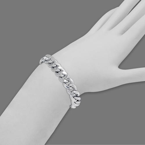 136-105W-210BR Hollow Miami Curb Bracelet