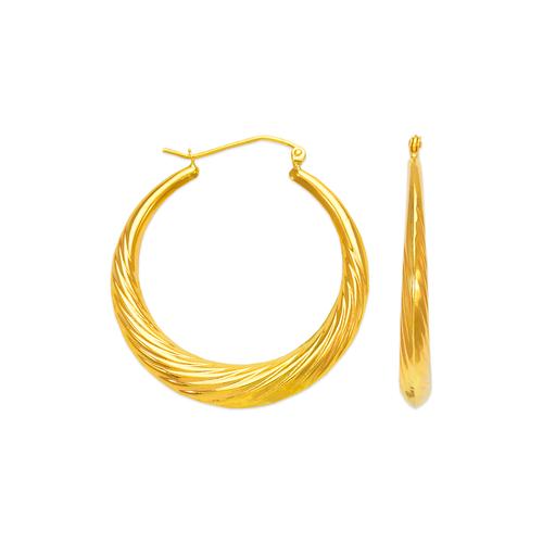 547-153 Hollow Shrimp Hoop Earrings