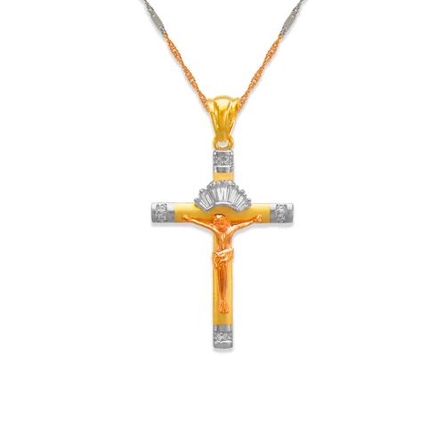 463-019 Fancy Jesus Cross CZ Pendant