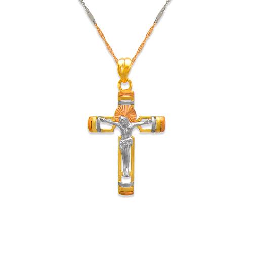 463-020 Fancy Jesus Cross CZ Pendant