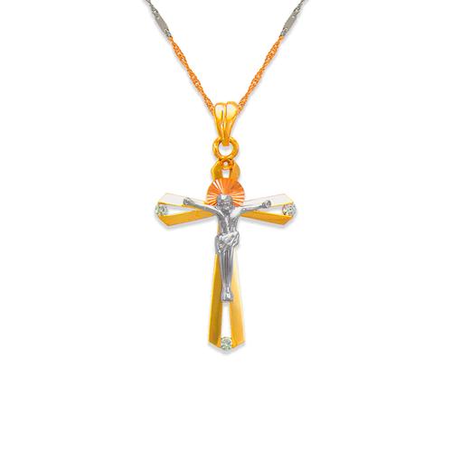 463-021 Fancy Jesus Cross CZ Pendant