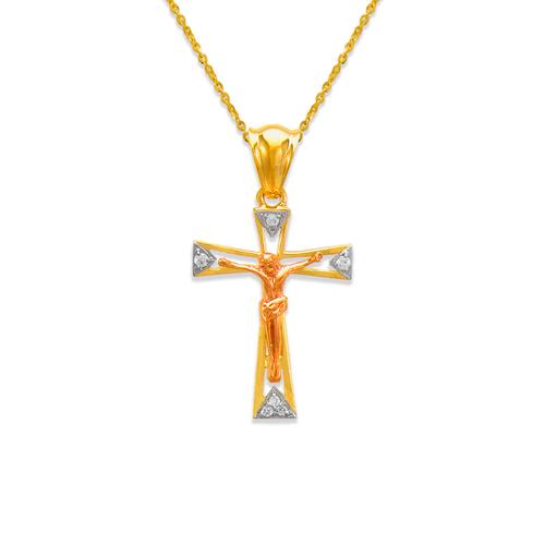 463-022 Fancy Jesus Cross CZ Pendant